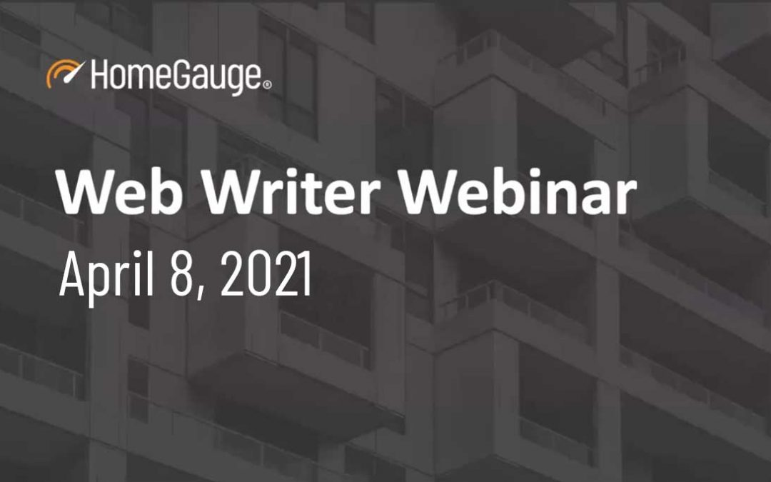 Web Writer Webinar #2 Recording Available