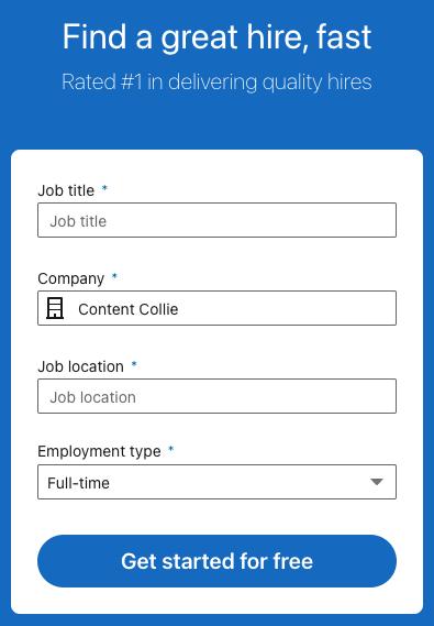 LinkedIn job post